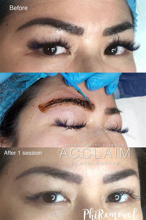 eyebrow tattoo correction arlington microblading