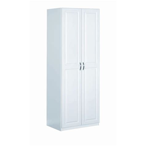 30 Inch Wide Wardrobe by Closetmaid Dimensions 24 In X 72 In White Cabinet 13001