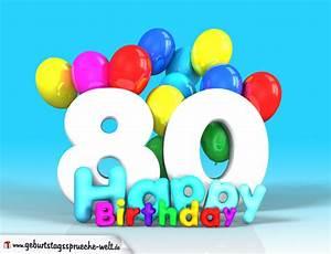 Besinnliches Zum 80 Geburtstag : 80 geburtstag bild happy birthday mit ballons geburtstagsspr che welt ~ Frokenaadalensverden.com Haus und Dekorationen
