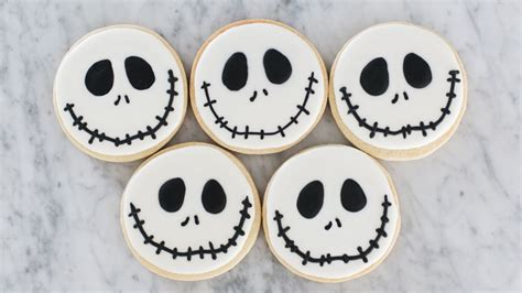 nightmare  christmas jack skellington cookies