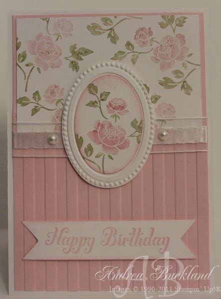 creating cards  andrea   loved stamp set
