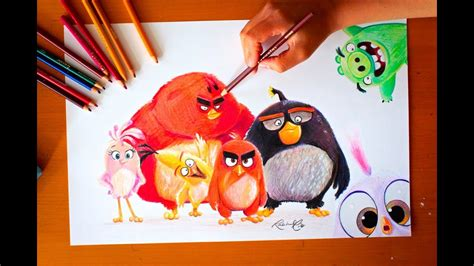 drawing angry birds  budget art youtube