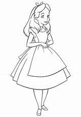 Alice Coloring Fille Ragazza Colorare Disegni Wonderland Coloriage Colorkid Merveilles Pays Paese Meraviglie Delle Nel Malvorlagen Wunderland Coloriages Maedchen Colorir sketch template