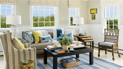 beautiful beachy living rooms coastal living