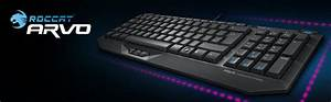 Roccat Uk Layout Arvo Compact Gaming Keyboard  Amazon Co