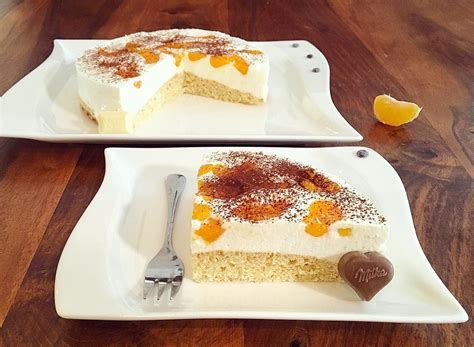 Weiße Schokolade Mandarinen Kakao Kuchen
