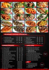 Seafood Restaurant Menu Designs