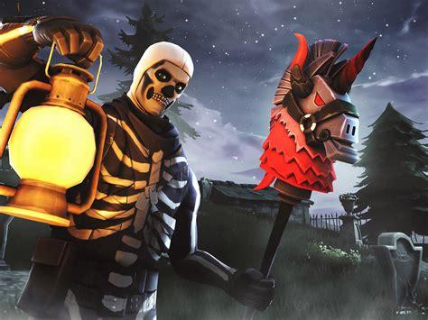 fortnite players    skull trooper variant