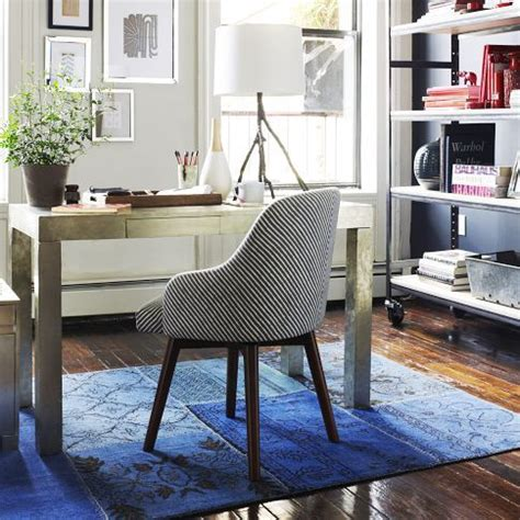 west elm saddle office chair knock wool blue carpet and band rooms on