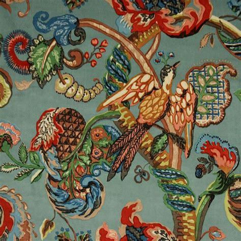 ian sanderson poppinjay fabric poppinjay velvet aztec ian sanderson upholstery and curtain