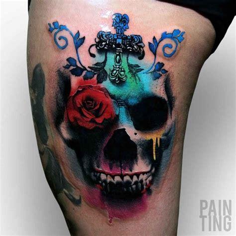 wonderful skull tattoo  hip  tattoo ideas gallery