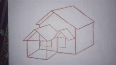 gambar lukisan rumah pensil