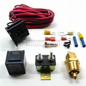 Electric Fan Wiring Install Kit Complete Thermostat 50amp