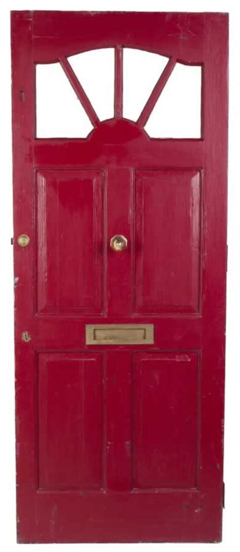 door mail slot green exterior door with arched panels and vertical 3429