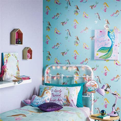 mermaid world wallpaper teal arthouse  childrens