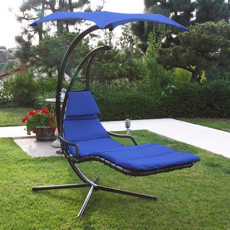 Patio Swing Chair Lounger Hammock Sun Canopy, Blue