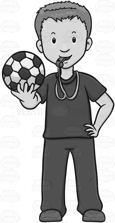 soccer team clipart black and white soccer coach looking ready to a team clipart