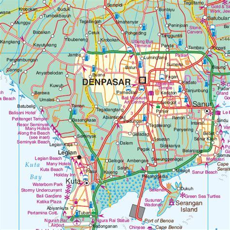 wegenkaart landkaart bali lombok itmb