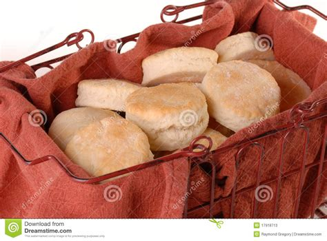 basket  homemade baked biscuits stock  image