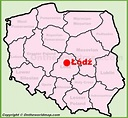 Lodz location on the Poland map