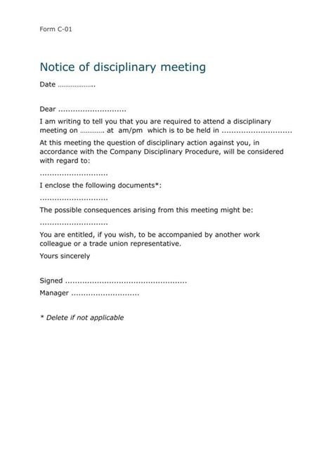 disciplinary warning letters  samples examples