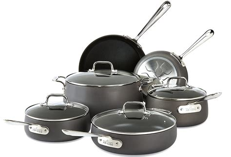 cookware sets anodized hard cooks amazon