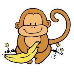 Cute Monkey with Banana Clip Art