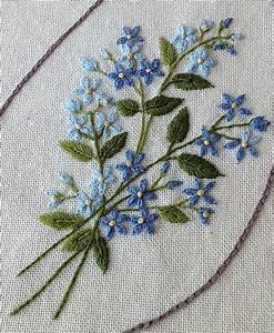 Kaylah Designs Forget Me Not Embroidery J M Linha Artesanato Bordado
