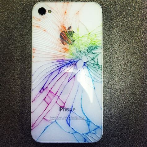 Colorful Cracked iPhone Back