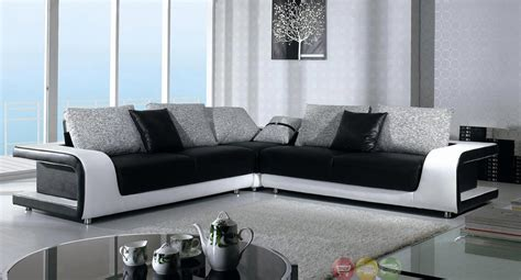 divani casa arden modern black fabric sectional sofa divani casa black and white leather and fabric sectional sofa