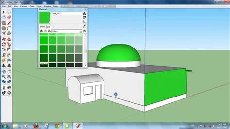 Tutorial Google Sketchup Cara Membuat Bangunan Masjid