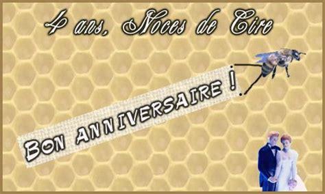 anniversaire de mariage 4 ans image carte 4 ans cire cybercartes