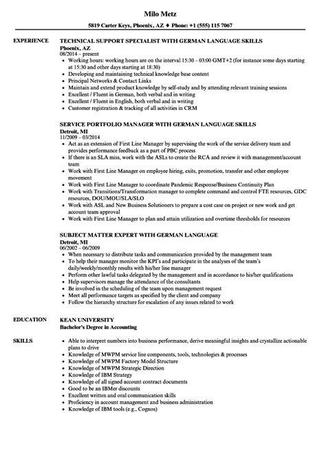 german language resume sles velvet