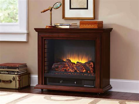 Sheridan Infrared Rolling Electric Fireplace Cherry