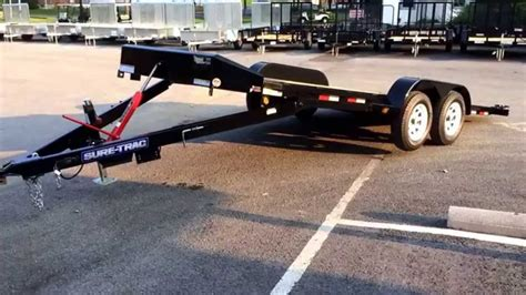 Sure Trac Manual Tilt Car Hauler Trailer 7x18' 7000# Gvw