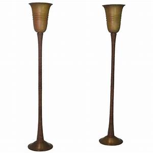 palm wood uplighters for sale at 1stdibs With wooden uplighter floor lamp