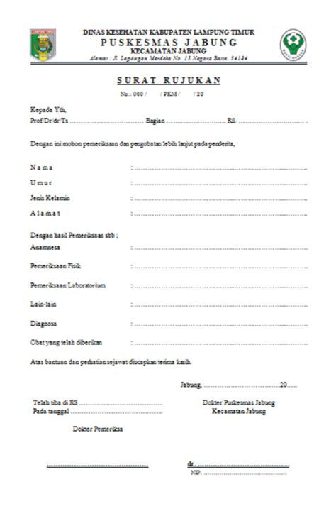 health document surat rujukan
