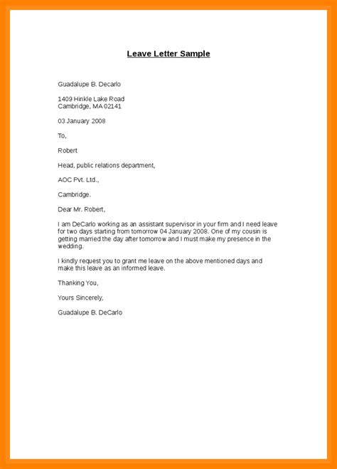 personal leave of absence letter approval letter for unpaid leave choice image 8352