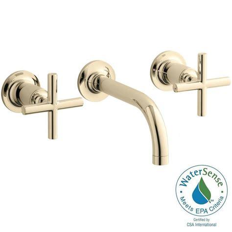 kohler purist wall mount 2 handle bathroom faucet trim kit