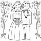 Groom Coloring Bride Colorare Colouring Braut Outline Printable Sposa Sposo Libro Sposi Adult Bruid Kleurende Boekpagina Bruidegom Dello Pagina Della sketch template