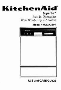 Kitchenaid Dishwasher 4kuda22ot User Guide