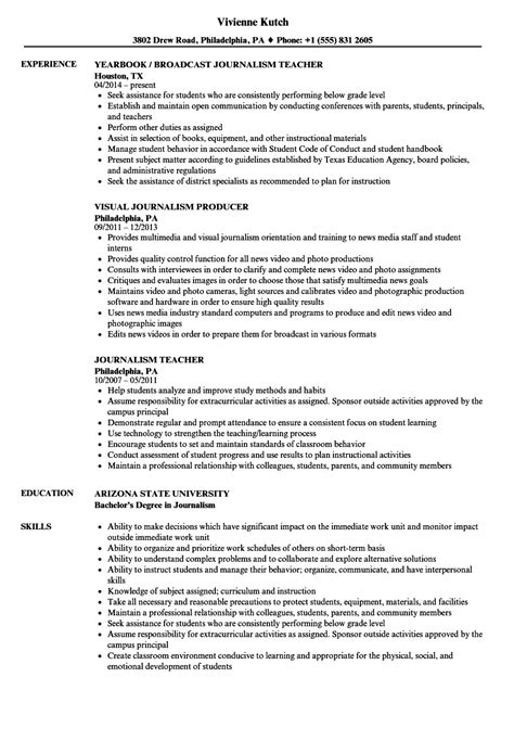 Journalism Resume Exles by Journalism Resume Sles Velvet