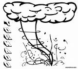 Tornado Coloring Pages Colouring Colorings Nature Children Coloringway sketch template