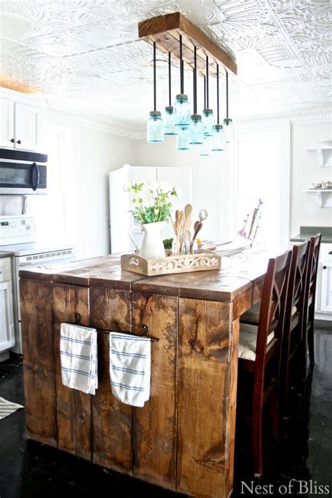 farmhouse kitchen island lighting mason jar chandelier nest of bliss