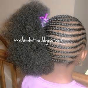 Big Braid Hairstyle Cornrow Styles