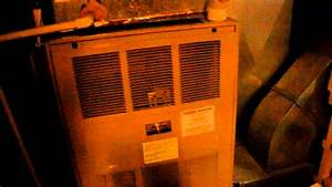 1980s Amana Air Command 90 Gas Furnace Running
