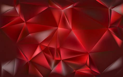 wallpapers polygons triangle  red background
