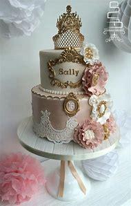 Vintage Sweet 16 Birthday Cake