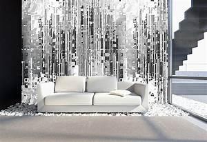 Graue Tapete Wohnzimmer : moderne tapete grau ~ Sanjose-hotels-ca.com Haus und Dekorationen