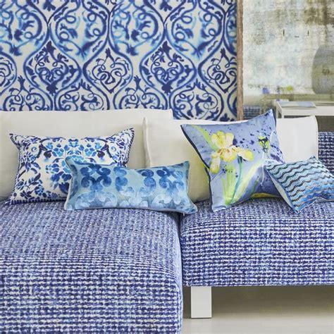 Designers Guild Kissen by Designers Guild Cushion Fiore Uccelli Cobalt